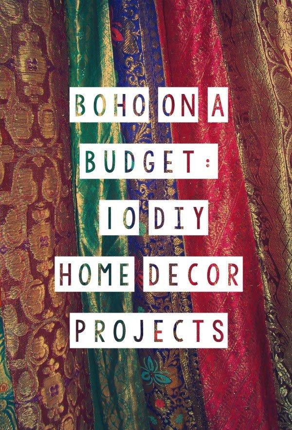 Quirky Bohemian Mama A Bohemian Mom Blog Boho on a Bud 10 DIY Home Decor Projects DIY
