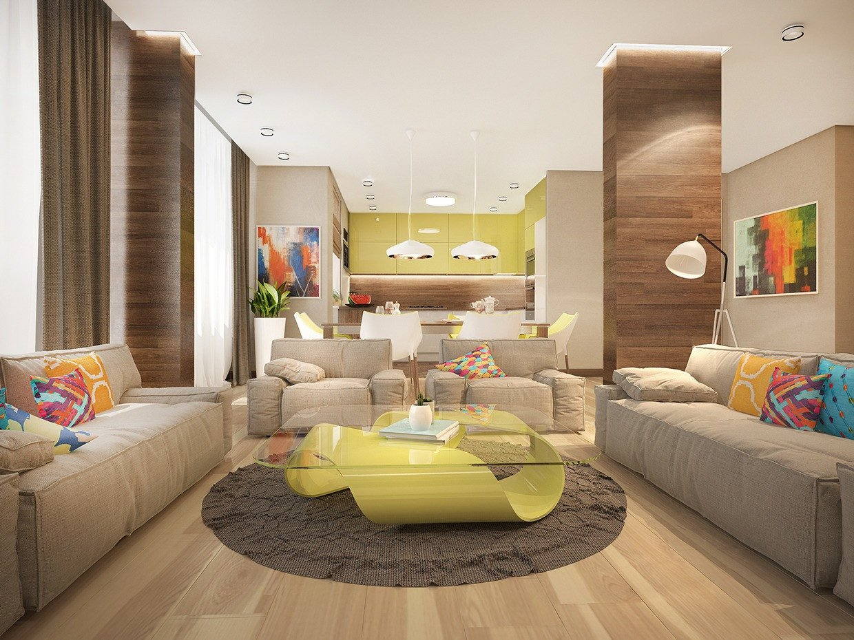 Bright Living Room Ideas Inspirational Stylish Family Home Features Bright Tropical Colors
