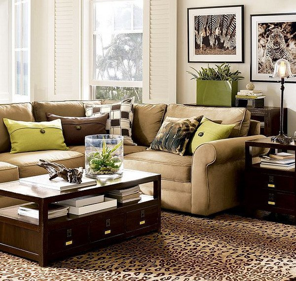 Brown Living Room Decorating Ideas Unique 28 Green and Brown Decoration Ideas