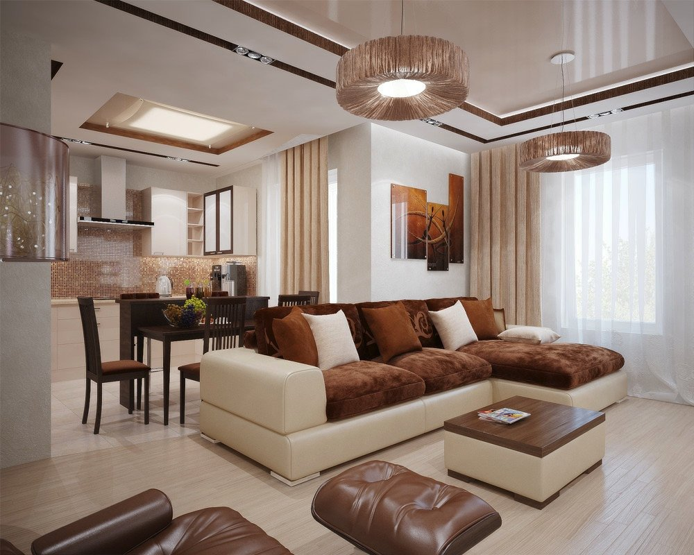 Brown Living Room Ideas Best Of Living Modern with Nature tones & Color Blasts