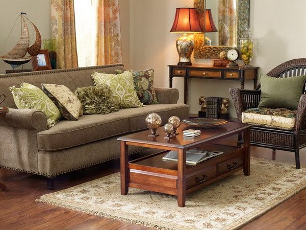 Brown Living Room Ideas Fresh the Summer Palette Choices Of Green and Brown for All Rooms