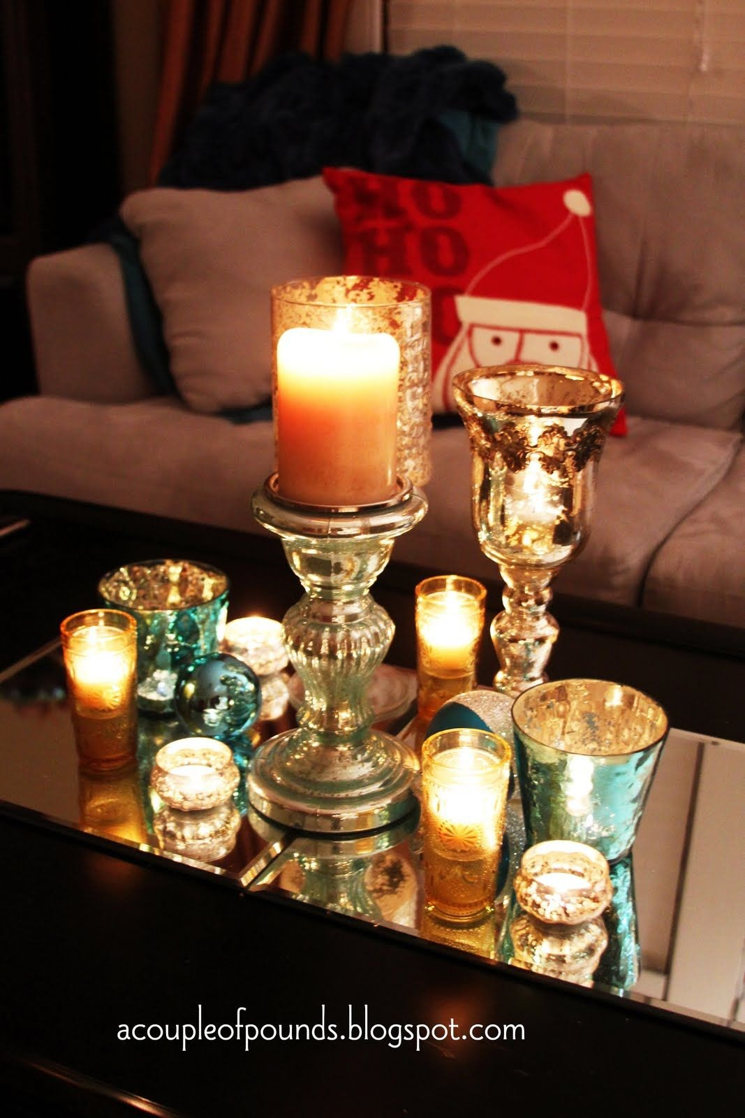 Candle Decor for Coffee Table Unique Christmas Coffee Table Decor My House My Home & Creations