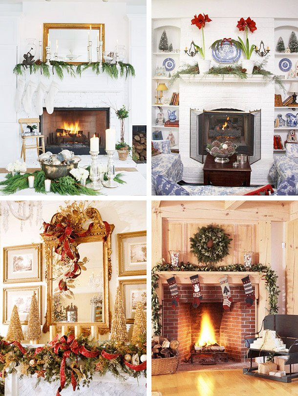 Christmas Decor for Fireplace Mantels Awesome 33 Mantel Christmas Decorations Ideas Digsdigs
