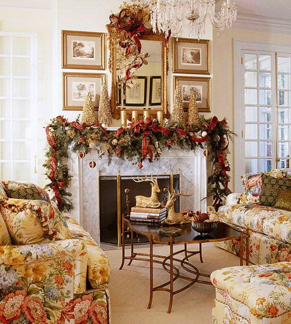 Christmas Decor for Fireplace Mantels Awesome 48 Inspiring Holiday Fireplace Mantel Decorating Ideas Family Holiday Guide to Family