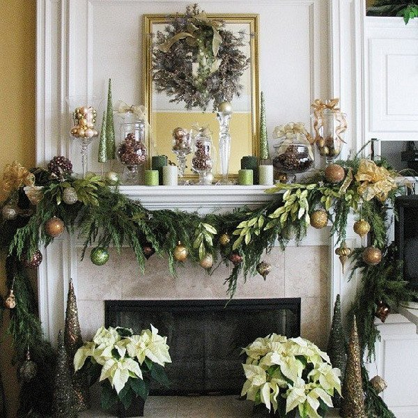 Christmas Decor for Fireplace Mantels Awesome Christmas Decoration Ideas for Fireplace