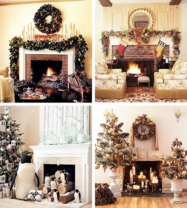 Christmas Decor for Fireplace Mantels Beautiful 40 Christmas Fireplace Mantel Decoration Ideas