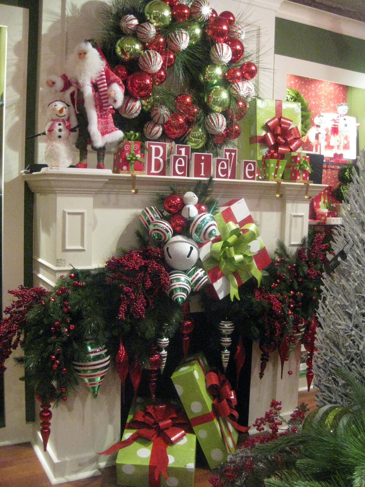 Christmas Decor for Fireplace Mantels Best Of Mantels Dressed for Christmas and A Link Party Celebrate & Decorate