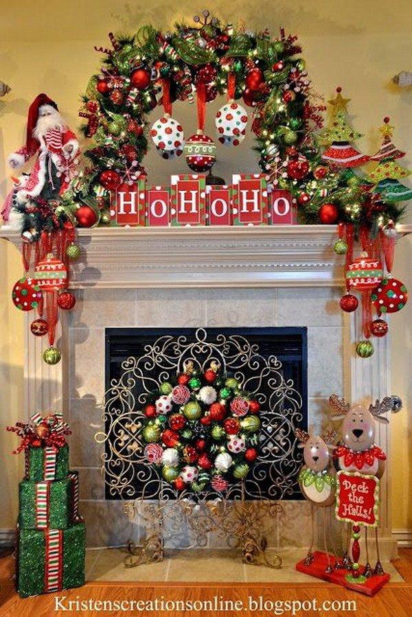 Christmas Decor for Fireplace Mantels Elegant 25 Gorgeous Christmas Mantel Decoration Ideas & Tutorials Hative