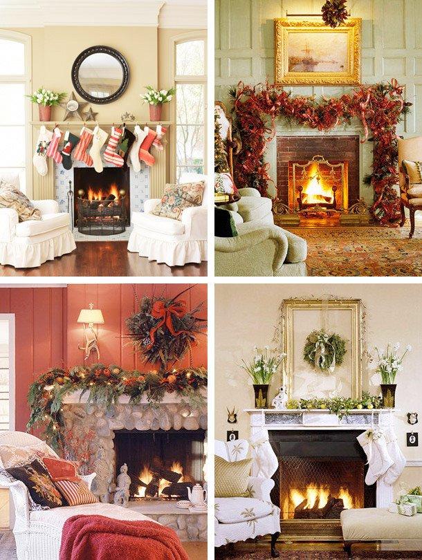 Christmas Decor for Fireplace Mantels Elegant 33 Mantel Christmas Decorations Ideas Digsdigs