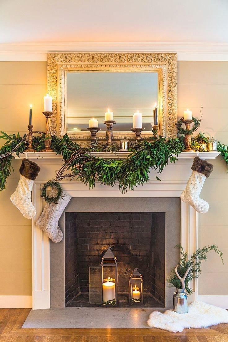 Christmas Decor for Fireplace Mantels Fresh 27 Christmas Fireplace Mantel Decoration Ideas