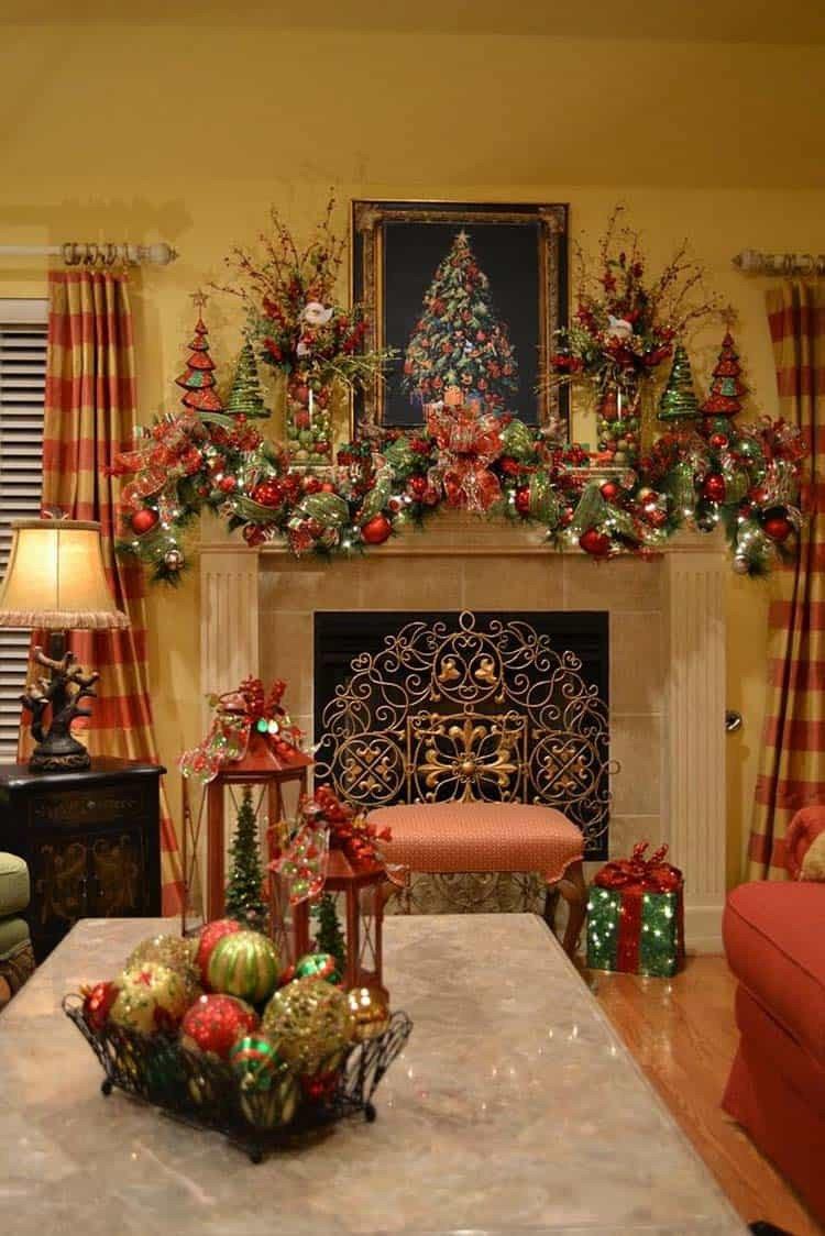 Christmas Decor for Fireplace Mantels Fresh 50 Absolutely Fabulous Christmas Mantel Decorating Ideas