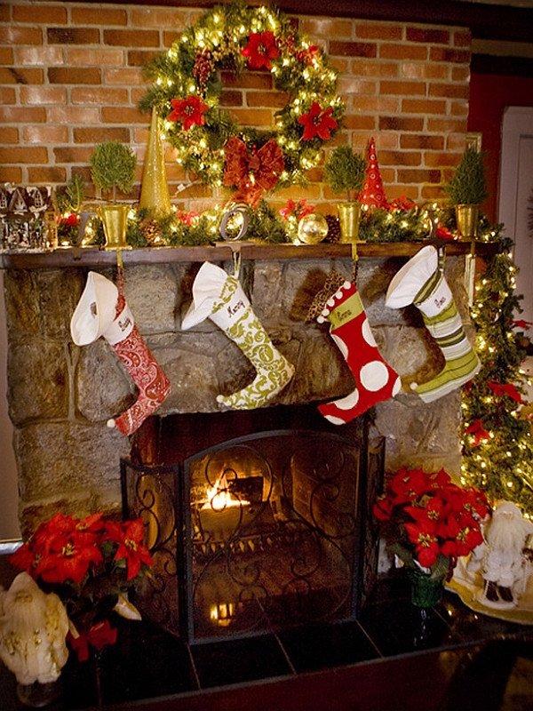 Christmas Decor for Fireplace Mantels Fresh 50 Christmas Mantle Decoration Ideas