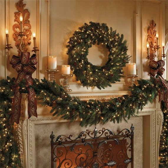 Christmas Decor for Fireplace Mantels Lovely Gorgeous Fireplace Mantel Christmas Decoration Ideas Family Holiday Guide to Family