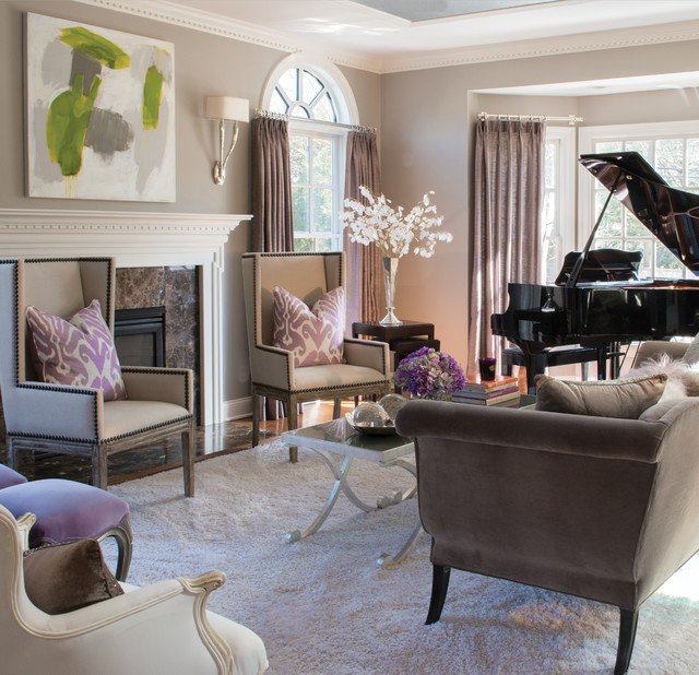 Classic Contemporary Living Room Beautiful Modern Classic Interiors Traditional Living Room New York by Susan Glick Interiors