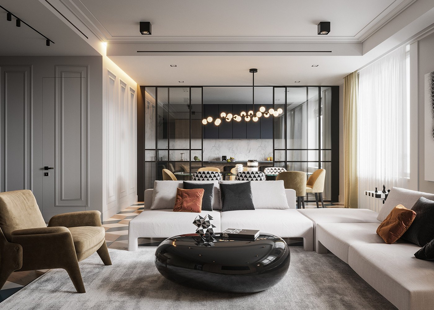 Classic Contemporary Living Room Inspirational Modern Classic On Behance