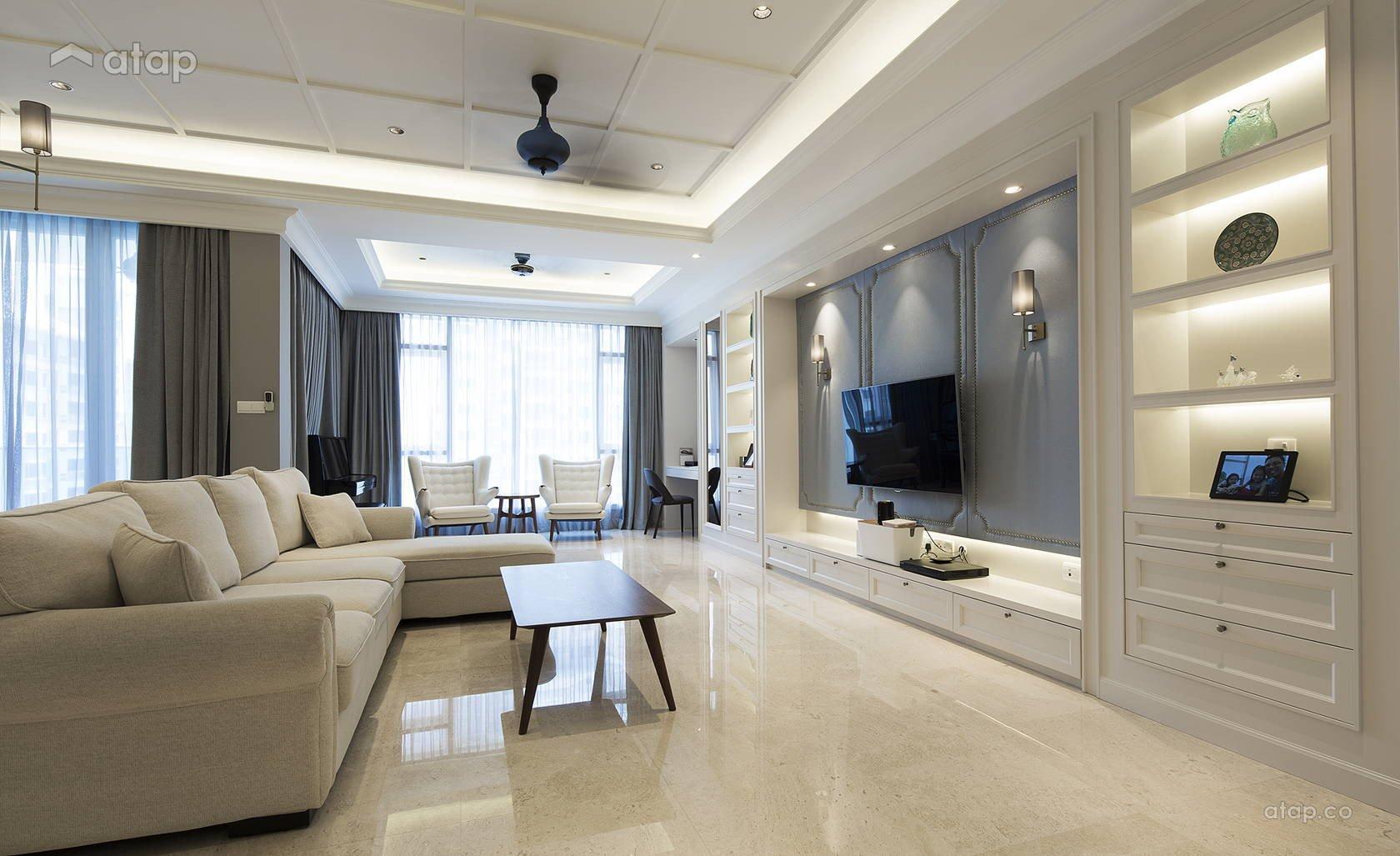 Classic Contemporary Living Room Lovely Classic Modern Family Room Living Room Condominium Design Ideas & Photos Malaysia