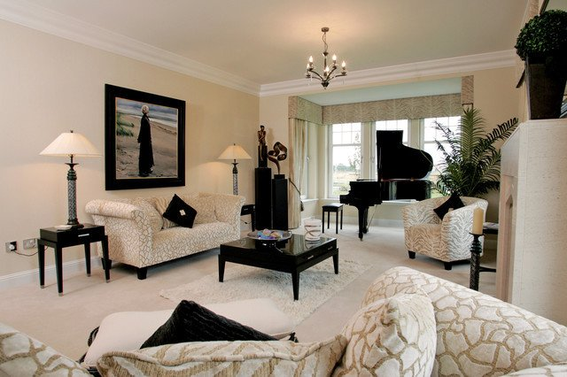 Classic Contemporary Living Room New Classic Contemporary Family Home In Scotland Contemporary Living Room Glasgow by Xs