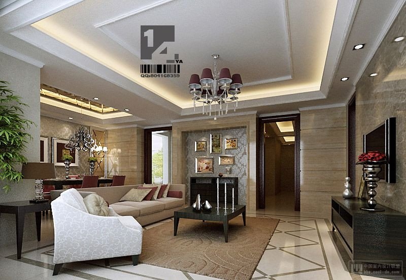 Classic Contemporary Living Room New Modern Chinese Interior Design