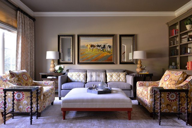 Classy Comfortable Living Room Elegant fortable yet Elegant Family Room Library Transitional Living Room Dallas by Barbara