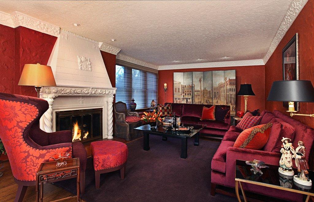 Warm Elegant fortable Living Room Urso Designs Inc
