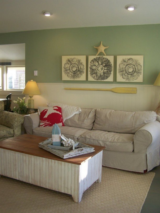 Coastal Comfortable Living Room Awesome Coastal Nest A Charming Beach Cottage Remodel Hooked On Houses