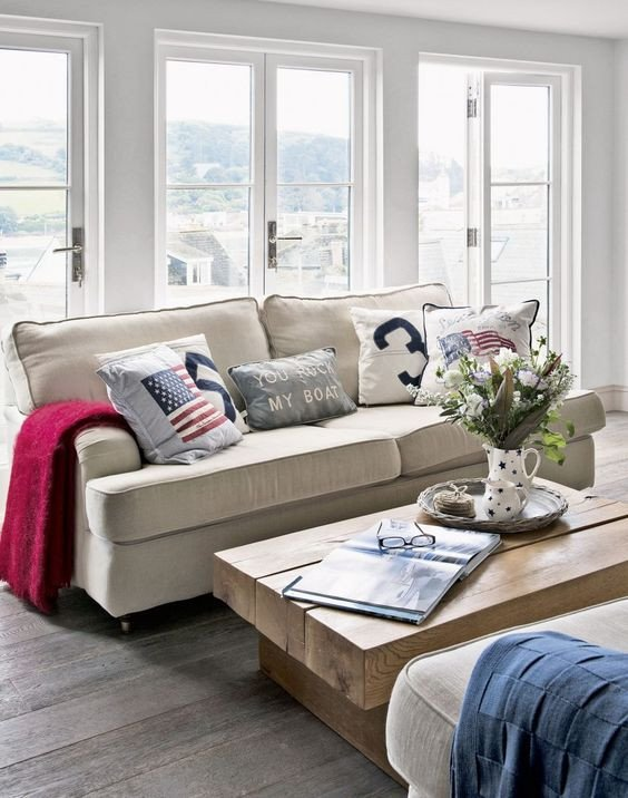 Coastal Comfortable Living Room Fresh Create Smart New England Coastal Style In Your Living Room with fortable Linen sofas and A