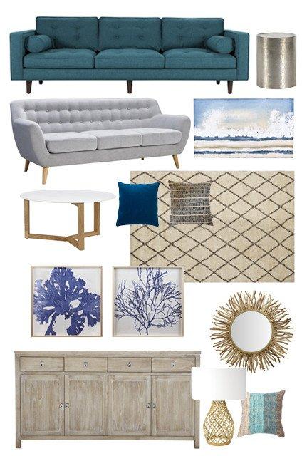 Coastal Comfortable Living Room Inspirational A Modern Coastal Mood Board