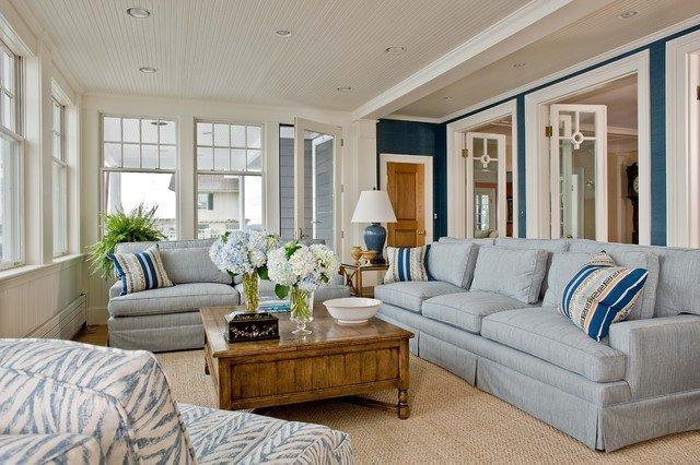 Coastal Comfortable Living Room Inspirational Marblehead Coastal Home Beach Style Family Room Boston by Anita Clark Design