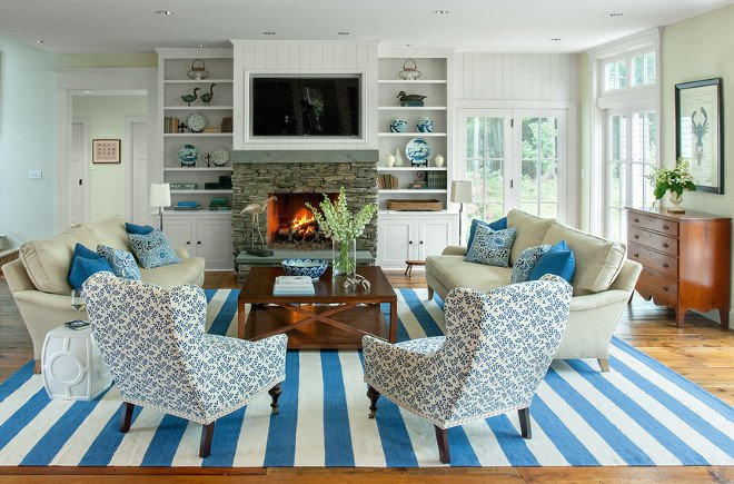 Coastal Comfortable Living Room Lovely Maine Beach House with Classic Coastal Interiors Home Bunch Interior Design Ideas