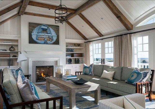 Coastal Comfortable Living Room Luxury Martha's Vineyard Beach House Home Bunch Interior Design Ideas