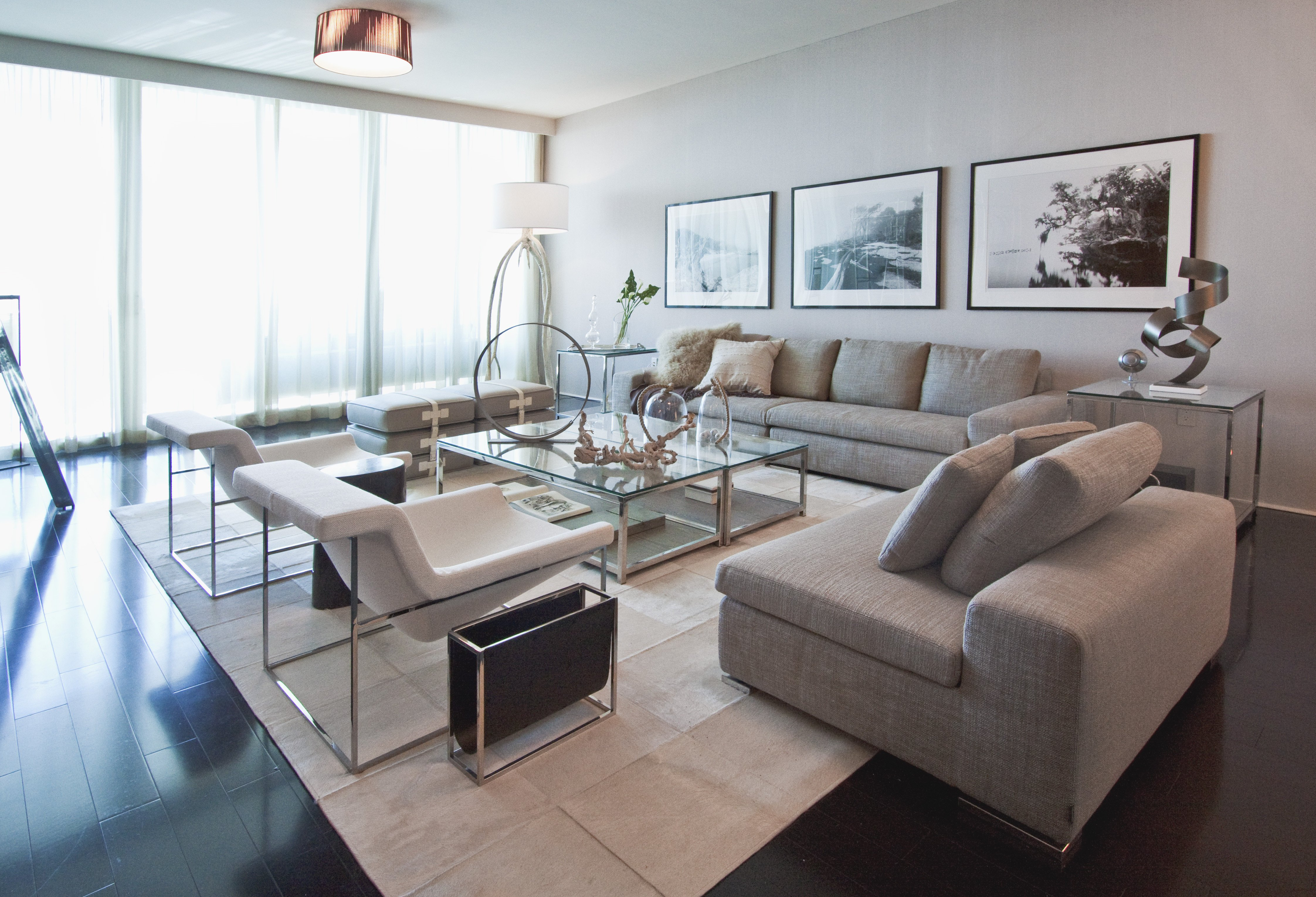 Coastal Contemporary Living Room Elegant Project Feature Weathered In Miami Beach – Trace Blog