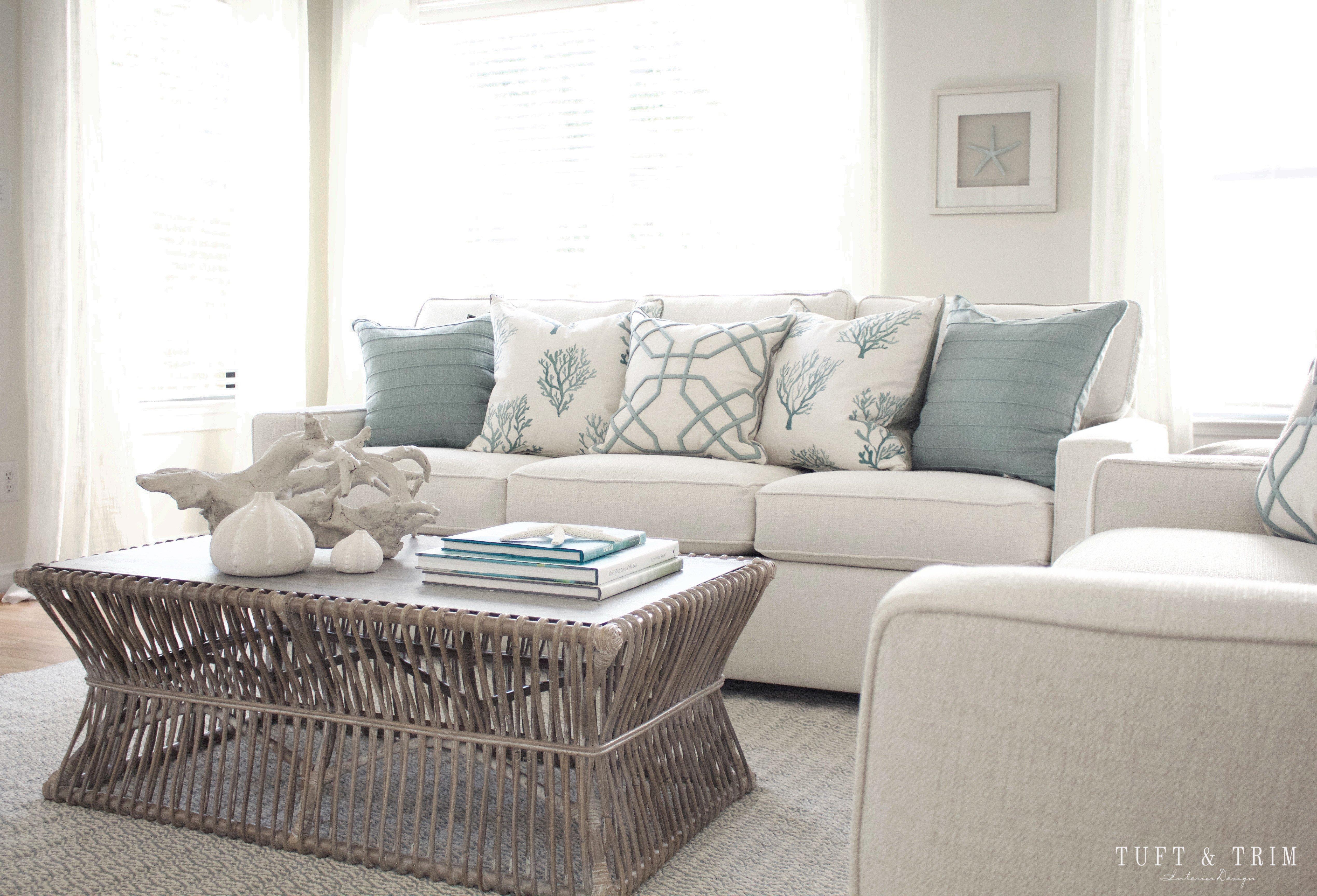 Coastal Contemporary Living Room Lovely Coastal Contemporary Living Room Reveal Tuft & Trim
