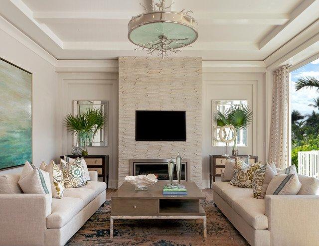 Coastal Contemporary Living Room New Coastal Contemporary Beach Style Living Room Miami by Ficarra Design associates Inc