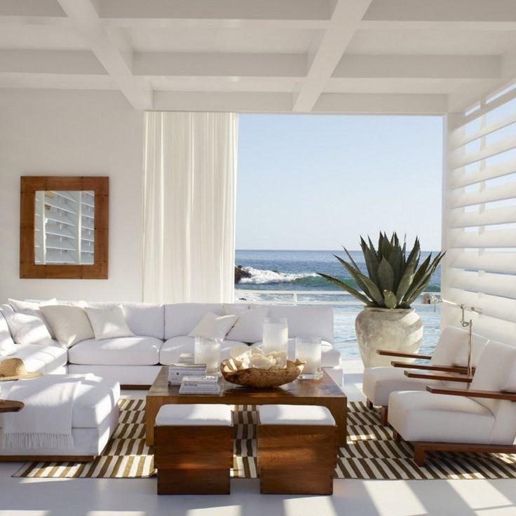 Coastal Contemporary Living Room New Modern Coastal Decor
