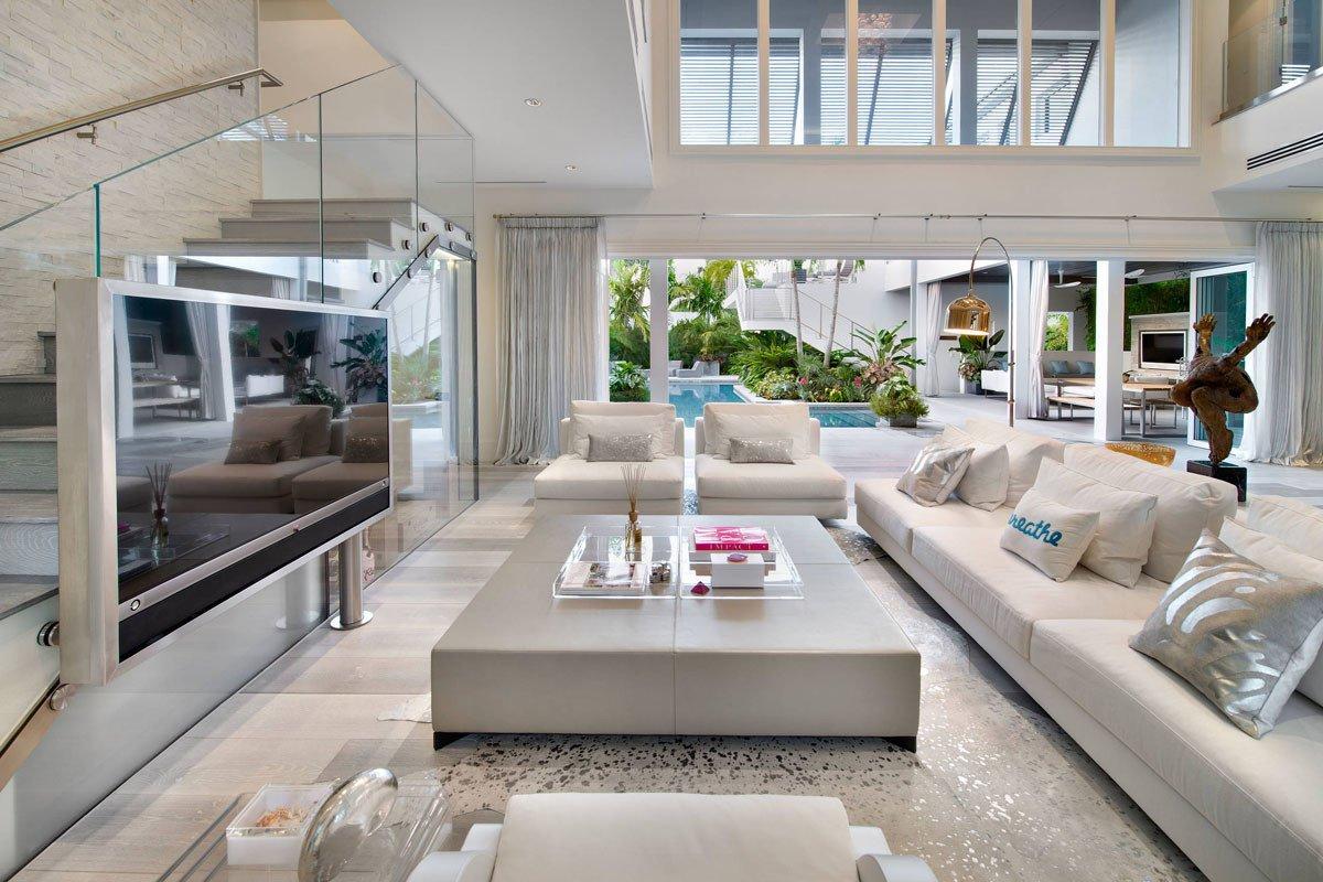 Coastal Contemporary Living Room Unique Custom Resort Like Beach Style Modern Coastal Home In Florida Idesignarch