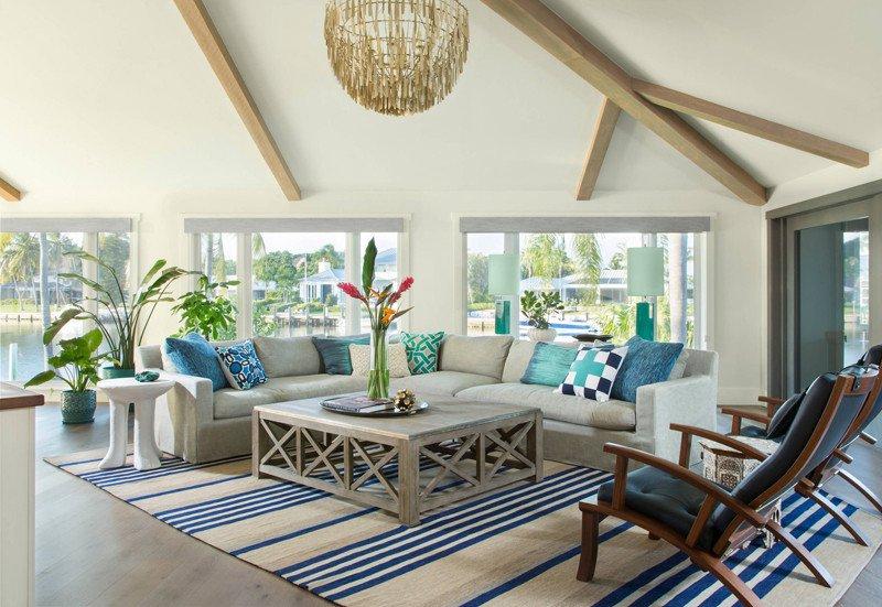 Coastal Contemporary Living Room Unique Studio80 Interior Design
