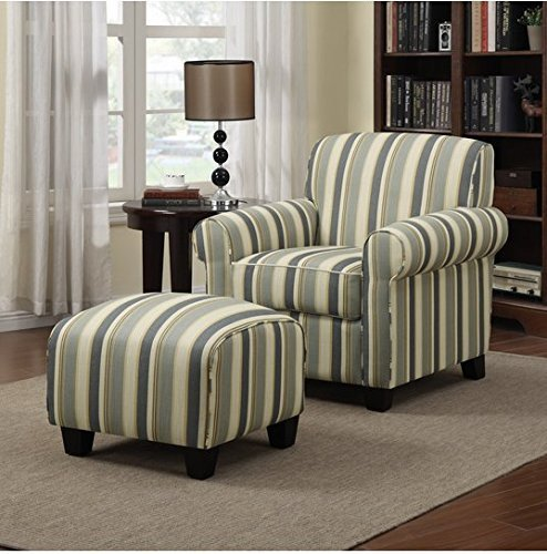 Comfortable Chairs Living Room Beautiful Amazon Portfolio Mira Coastal Living Room Upholstered fortable Blue Stripe Arm Chair and
