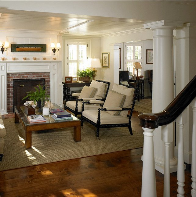 Comfortable Classic Living Room Beautiful Martha's Vineyard Traditional Coastal Home Home Bunch Interior Design Ideas