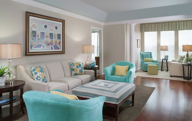 Comfortable Contemporary Living Room Lovely Colorful and fortable Living Room Contemporary Living Room Baltimore by Lynne Lawson