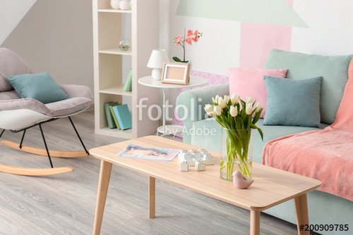 "Comfortable Elegant Living Room Beautiful ""elegant Living Room Interior with Table and fortable sofa"" Stock Photo and Royalty Free"