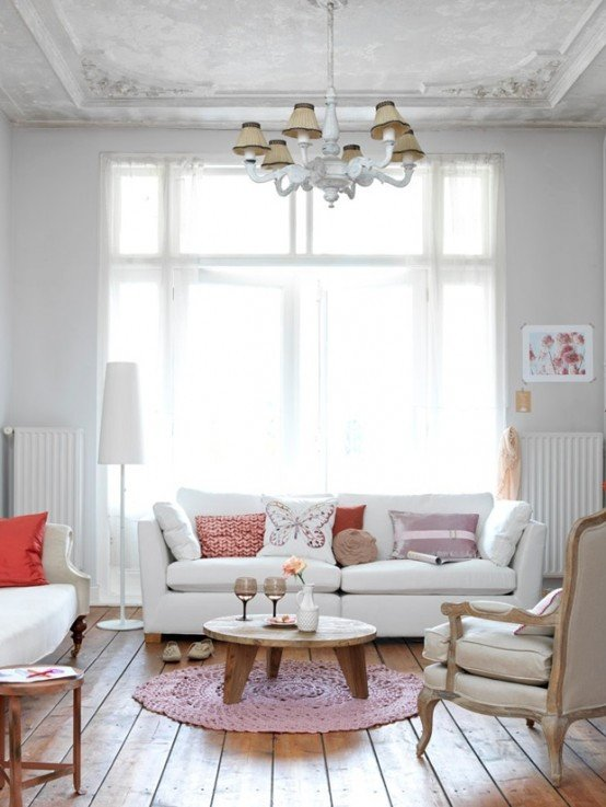 Comfortable Feminine Living Room Awesome 2013 Stylish and Feminine Living Rooms Decorating Ideas