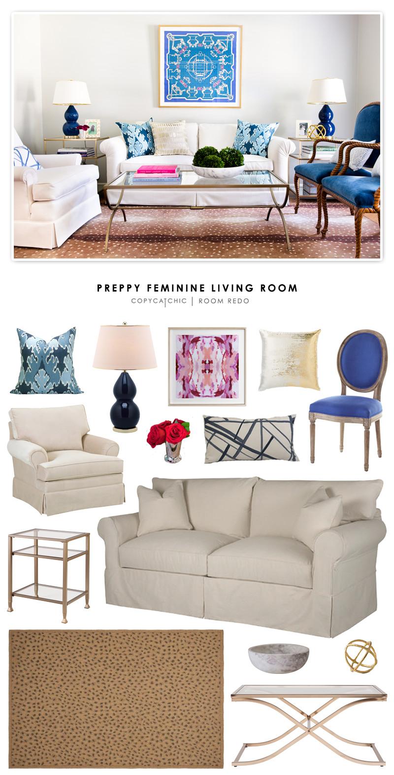Comfortable Feminine Living Room Best Of Copy Cat Chic Room Redo