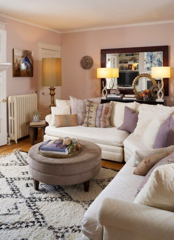 Comfortable Feminine Living Room Elegant Gorgeous Eclectic Feminine Home with Gold Accents Digsdigs