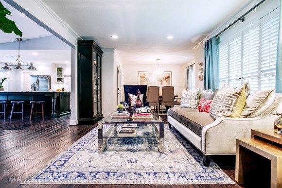 Comfortable formal Living Room Elegant Curated fort Pulp Design Studios