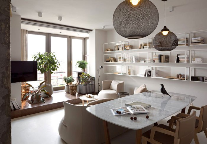 Comfortable Living Room Apartment New Elegant and Stylish Apartment Renovation by Olga Akulova Interiorzine