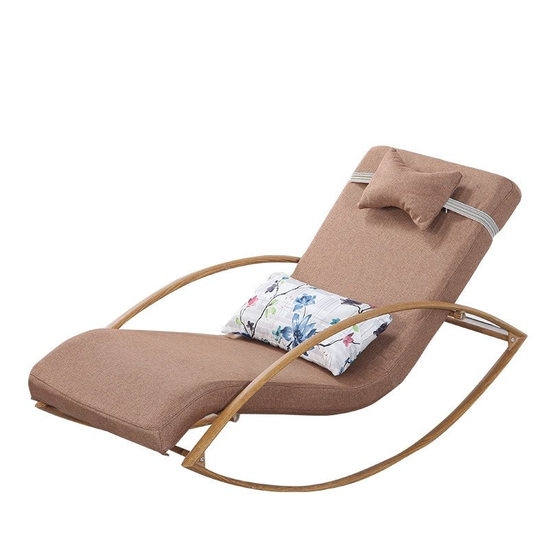 Comfortable Living Room Chaise Lounge Beautiful fortable Relax Metal Rocking Chair Chaise Lounger with Upholsterd Cushion Living Room