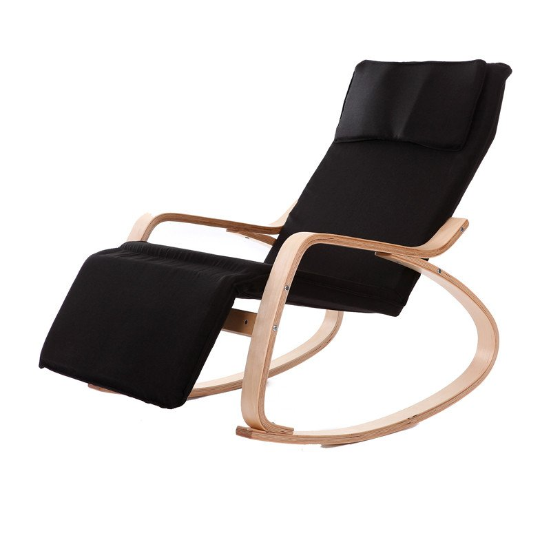 Comfortable Living Room Chaise Lounge Fresh fortable Relax Wood Rocking Chair with Foot Rest Design Living Room Furniture Modern Chaise
