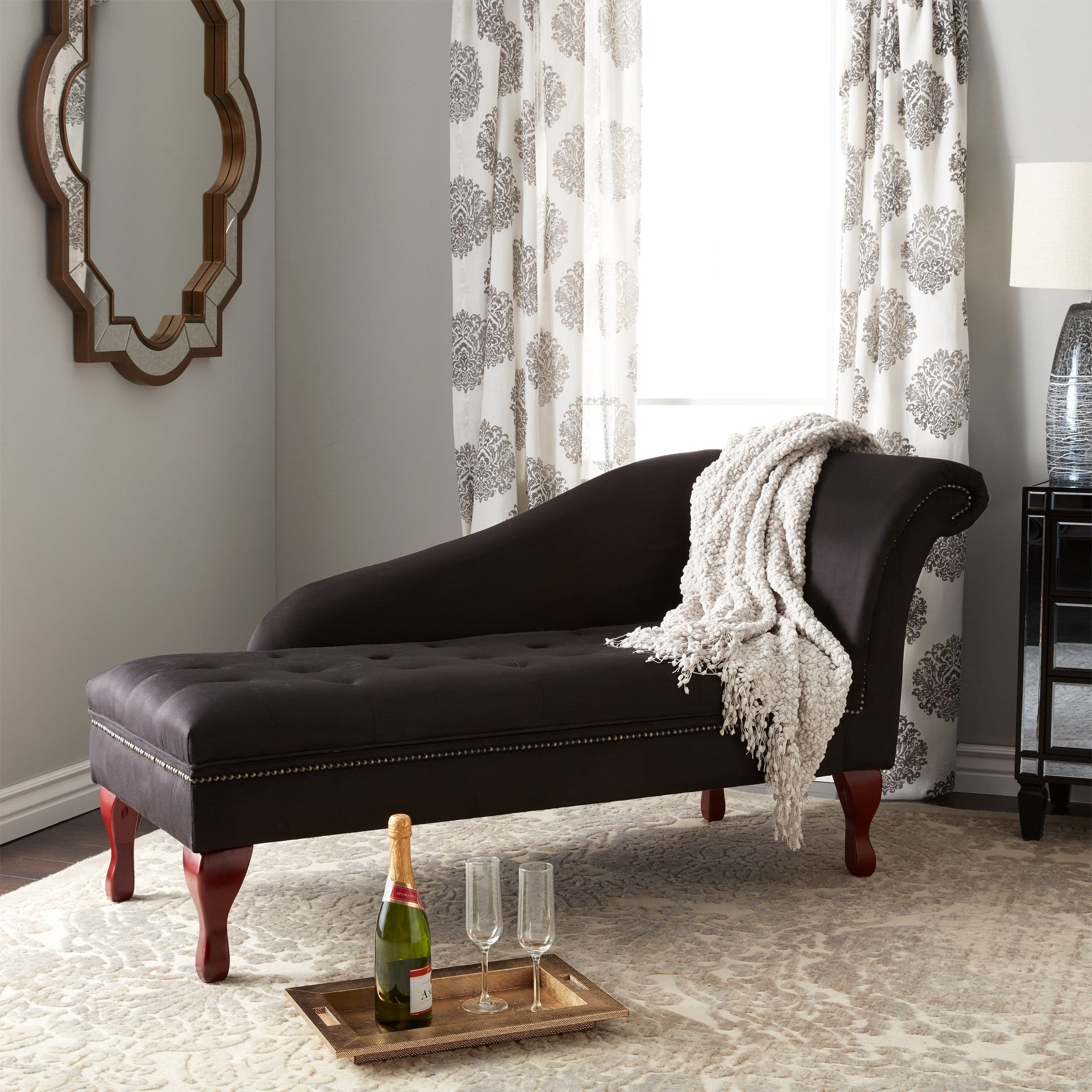 Comfortable Living Room Chaise Lounge Lovely New fortable Modern Classic Simple Living Black Storage Chaise Stylish Lounge