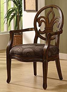 Comfortable Living Room Dining Room New Amazon Fleur De Lis Wood Chocolate Dining Chair with Cut Out Back Rest This Accent Arm