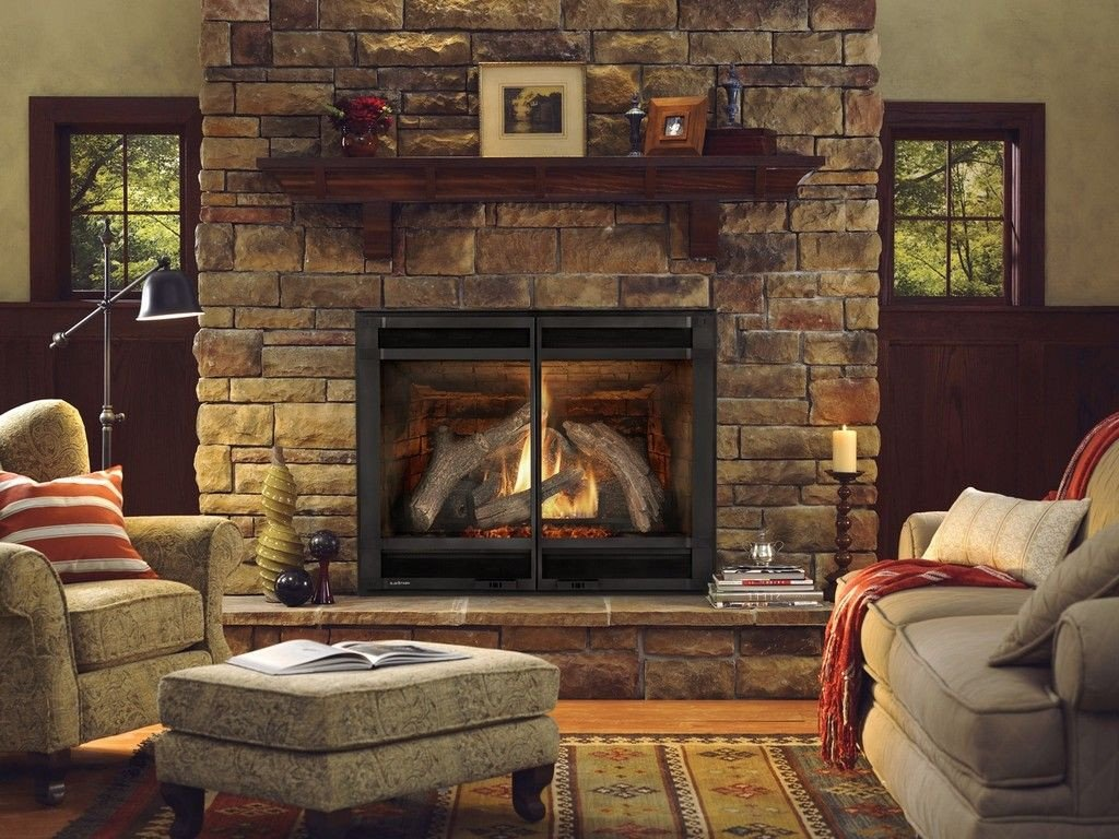 Comfortable Living Room Fireplace Fresh fortable Living Room with Natural Stone Gas Fireplace Ideas and Elegant Armchair and Gray